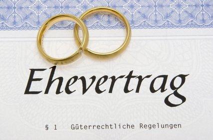 Kontaktieren Sie mich für die Erstellung eines Ehevertrags.